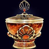 Сахарница «Императорская» с декором из белой бронзы