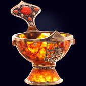 Чаша «Державная» из янтаря с декором из белой бронзы