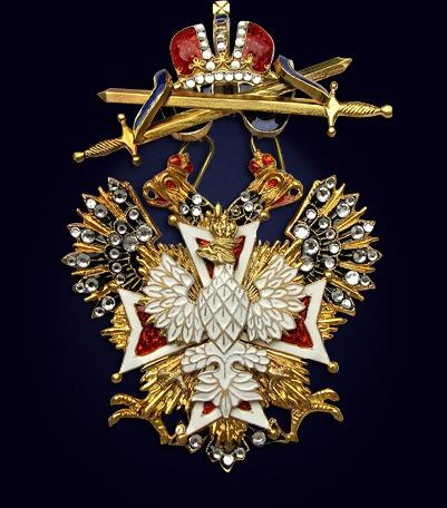 Орден Белого Орла с мечами и со стразами