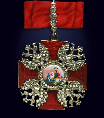 Орден святого Александра Невского (большой с заколкой и со стразами)