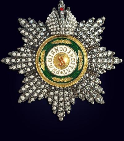 Звезда ордена св. Станислава со стразами и с короной