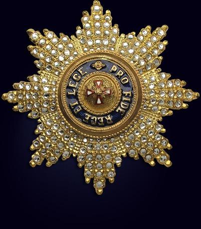 Звезда ордена Белого Орла со стразами