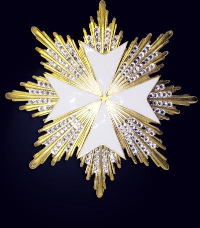 Звезда Мальтийского креста со стразами
