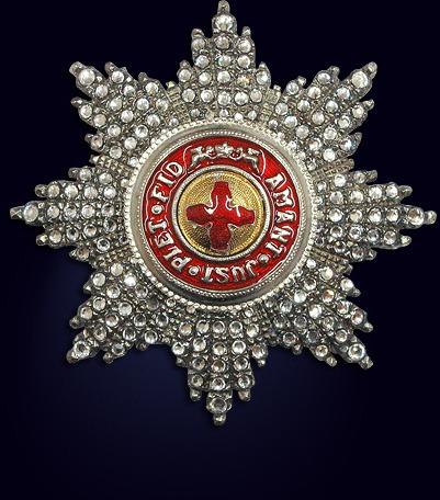 Звезда ордена святой Анны со стразами