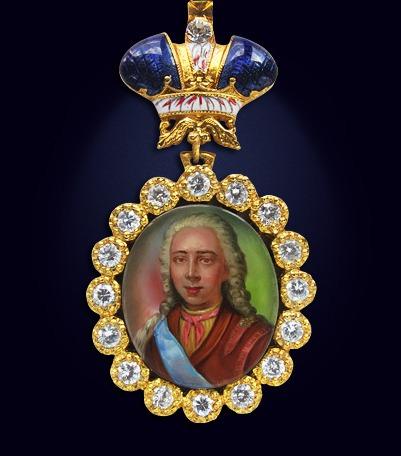 Наградной портрет императора Петра II