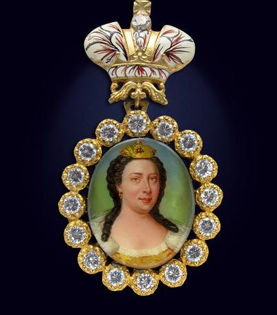 Наградной портрет императрицы Анны Иоанновны