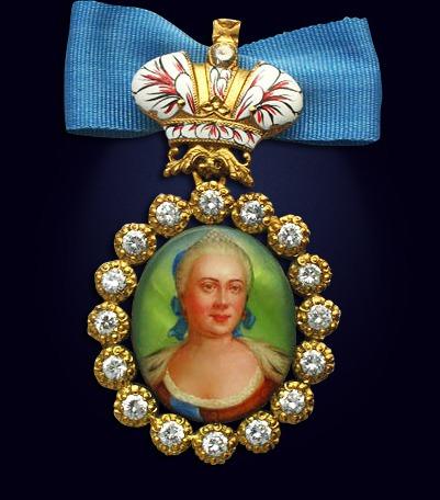 Наградной портрет императрицы Елизаветы Петровны
