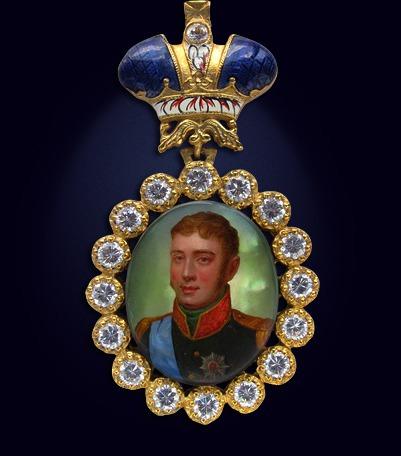 Наградной портрет императора Александра I