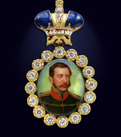 Наградной портрет императора Александра II