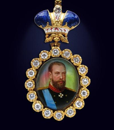 Наградной портрет императора Александра III