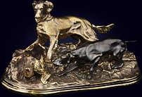 Скульптурная композиция «Псовая охота»
