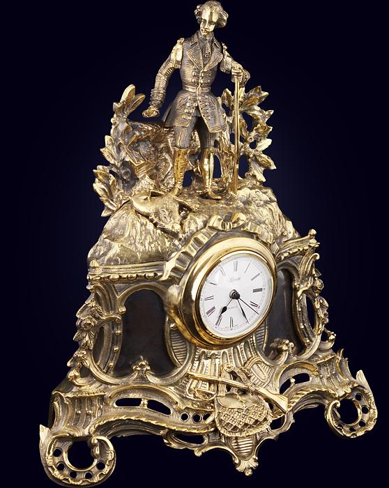 Часы каминные «Поход Суворова через Альпы»
