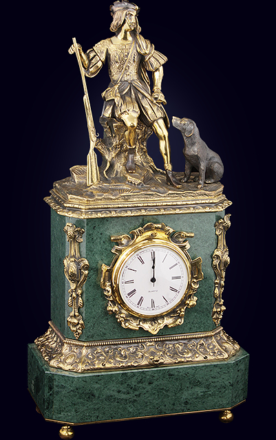 Часы каминные «Охотник»