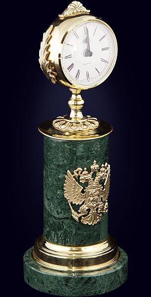 Часы кабинетные на камне «Гербовые»
