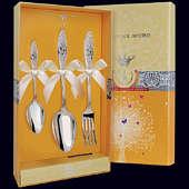 Набор детского серебра «Морозко» (ложка, вилка и чайная ложка)
