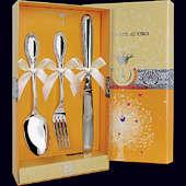 Набор детского серебра «Император» (ложка, вилка и нож)