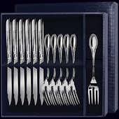 Столовый набор для рыбы «Император» из 12-ти предметов (вилки и ножи)