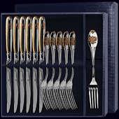 Столовый набор «Единство» с позолотой из 12-ти предметов (вилки и ножи)