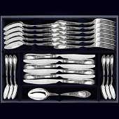 Набор столового серебра «Престиж», 24 предмета