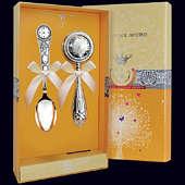 Набор детского серебра «Часы»