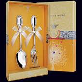 Серебряный десертный набор «Император»