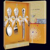 Набор детского серебра «Звезда» ч/п (ложка, вилка и нож)