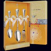 Набор детского серебра «Фаворит» (ложка, вилка и чайная ложка)