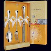 Набор детского серебра «Фаворит» (ложка, вилка и нож)