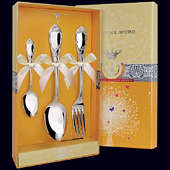Набор детского серебра «Престиж» (ложка, вилка и чайная ложка)
