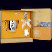 Набор детского серебра «Девочка» (ложка+кружка)