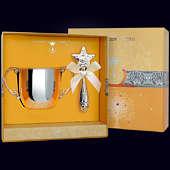 Набор детского серебра с кружкой «Гладкая»