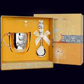 Набор детского серебра «Мишутка» из кружки и ложки