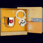 Набор детского серебра «Сердце» (кружка и погремушка)