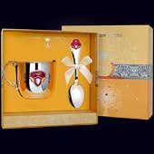 Набор детского серебра «Принцесса» из кружки и ложки