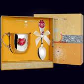 Набор детского серебра «Сердце» из кружки и ложки