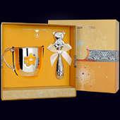 Набор детского серебра «Мишка» (кружка +погремушка)