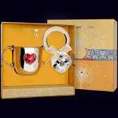 Набор детского серебра «Сердце» (поильник и погремушка)