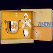 Набор детского серебра «Звезда с эмалью (поильник+ложка)