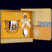 Набор детского серебра «Мишка» (поильник+ложка)