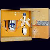 Набор детского серебра «Принц» (поильник+ложка)