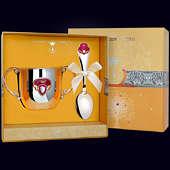 Набор детского серебра «Принцесса» (поильник+ложка)
