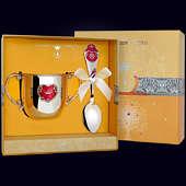 Набор детского серебра «Сердце» (поильник+ложка)