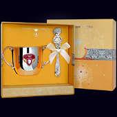 Набор детского серебра «Принцесса» (поильник+погремушка)