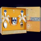 Набор детского серебра «Принц» (кружка, ложка и вилка)