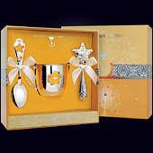 Набор детского серебра «Звезда» (кружка, ложка и погремушка)