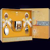 Набор детского серебра «Мишка» (поильник, ложка и вилка)