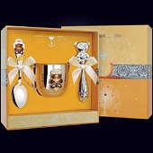 Набор детского серебра «Мишка» (кружка, ложка и погремушка)