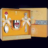 Набор детского серебра «Принцесса» (поильник, ложка и погремушка)
