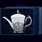 Серебряный чайник «Королевская охота»
