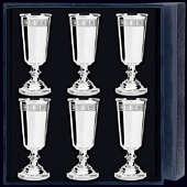 Серебряные рюмки «Джентльмен» с гравировкой «Квадрат»